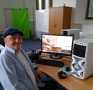 Photo of Martin Kerr, volunteer with TCTV